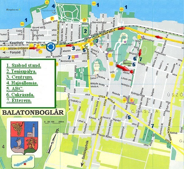 balatonboglár térkép Balaton/Horváth apartmanok   Vizközeli apartmanok   Ferienhäuser  balatonboglár térkép